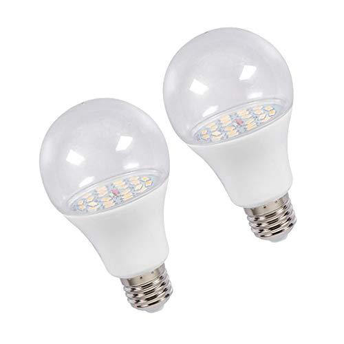 perfk 2Pcs, E27 LED Zimmerpflanzen Wachsen Glühbirnen Für Chrysantheme Natürliches