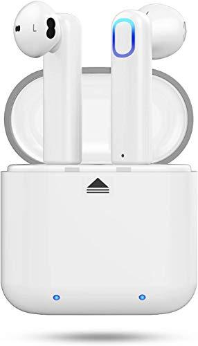 Huyeta Bluetooth-Funkkopfhörer Wirklich kabellose Ohrhörer mit 3D Stereo Sound Kopfhörer Schnurlose Sport-Headsets für iOS-Android-Smartphones