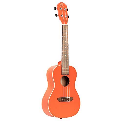 ORTEGA Bonfire Series - Ukelele de concierto (4 cuerdas), color naranja