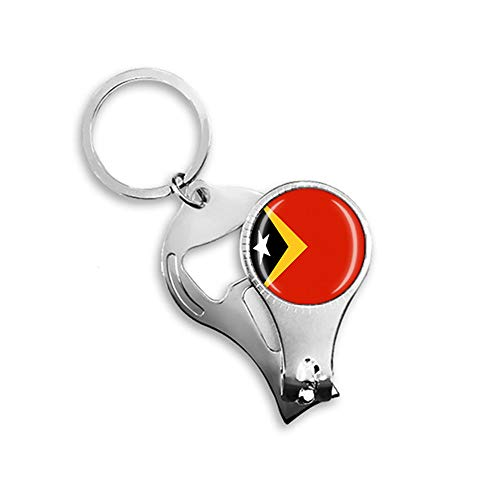 East Timor Nationalflagge Nagelknipser Flaschenöffner Schlüsselanhänger Rucksack Anhänger Geschenk Reise Souvenir Multifunktionskombination