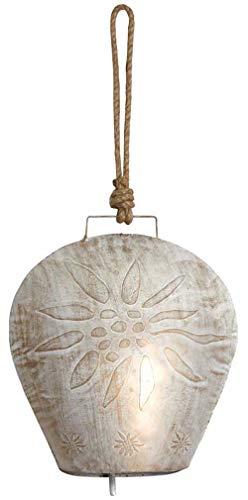 AUBRY GASPARD Cloche Edelweiss en métal Blanchi 26 cm