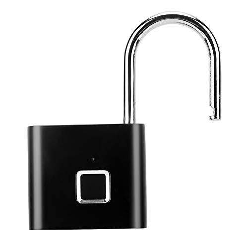 Pbzydu Fingerprint Padlock Fingerprint Smart Padlock Easy To Carry IP65 Waterproof Factories Hotels Smart security Bathing Centers Officer Home for Apartments