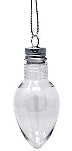 Creative Hobbies 4 Inch Fillable Light Bulb Shape Clear Plastic...