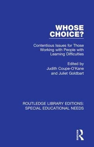 Whose Choice? (Routledge Library Editions: Special Educational Needs, Band 10)