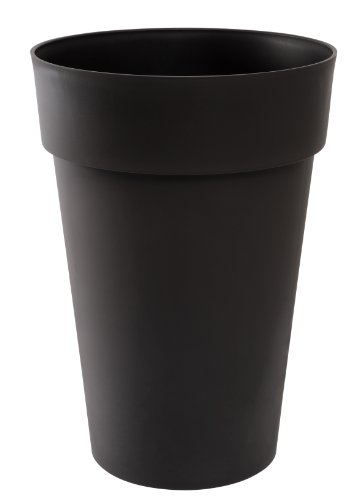 Eda Plastiques 13630 G.Ant SX3 - Toscana, Vaso da Giardino Alto in Polipropilene 46x65cm, Colore: Grigio Antracite