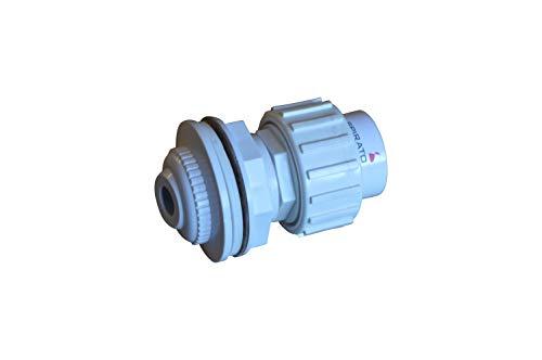 SPIRATO Einlaufdüse für Stahlwandbecken Einströmdüse weiß mit Rohranschluss 50mm