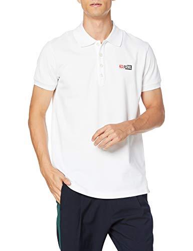 Diesel T-Weet-Split T-Shirts & Poloshirts Herren Weiss - L - Polohemden Shirt