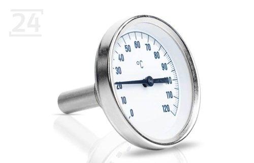 Bimetall-Einschraubthermometer mit Edelstahl Tauchhülse
