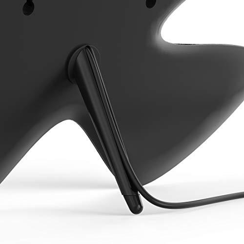 Thomson Zimmerantenne DVBT-2 mit einstellbarem Verstärker für Fernseher (digitale Innenantenne, leistungsstarke Ultra-HD-Fernsehantenne, stromsparend dank USB u. Koax-Stecker, 2,5m Kabel) schwarz-grau