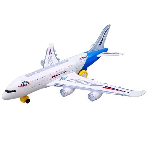 WQDS Niño bebé Juguete Gran Historia Musical inercia Juguete para niños simulación de avión avión de pasajeros Universal Luminoso eléctrico