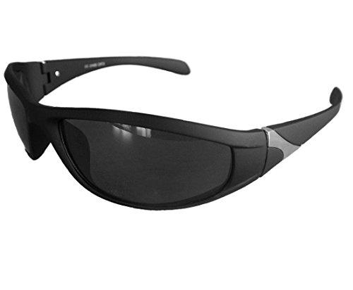 Gil SSC Matrix Sportbrille Sonnenbrille Schwarz verspiegelt Fahrradbrille Snowboardbrille Motorradbrille M 23 (schwarz verspiegelt)
