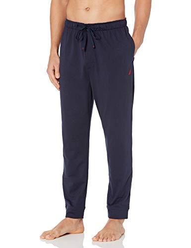 Nautica Herren Men's Sustainable Knit Sleep Pants Pyjamahose, Navy, Medium