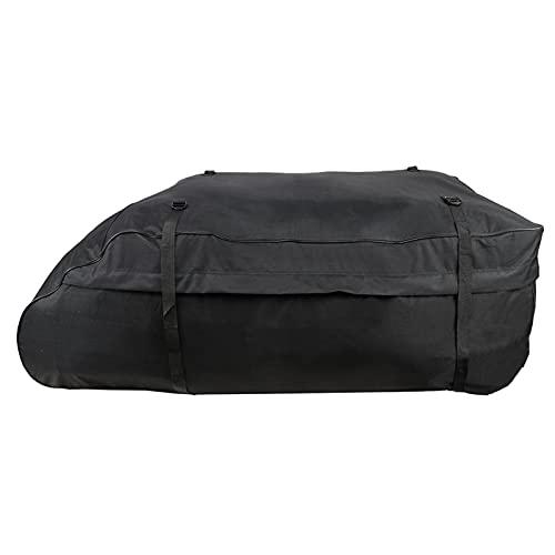 Resistente borsa da tetto per auto, borsa per auto da tetto impermeabile in tessuto Oxford 600D, borsa superiore da 425 litri con grande capacità con cintura di fissaggio stretta per tutte le auto