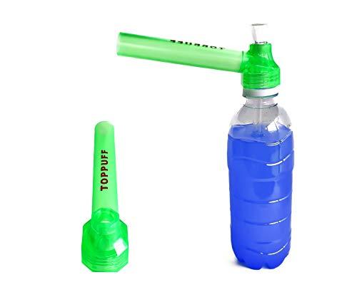 【喫煙具専門けむり屋】 水パイプ ボング 作成キット 選べるカラー5色 ペットボトル を パイプ にできる ガラスパイプ と マウスピース (グリーン)