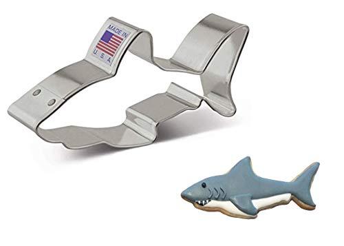 "Ann Clark Cookie Cutters White Shark Cookie Cutter, 4"""