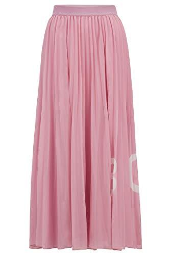 BOSS Damen Tiplissee Business Casual Skirt, Light/Pastel Purple (530), XL EU