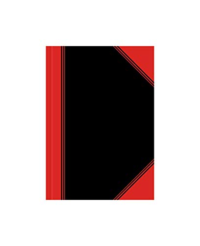 Landre China-Kladde A7 kariert, 96 Blatt, Notiz-Buch in schwarz rot, 12 Stück