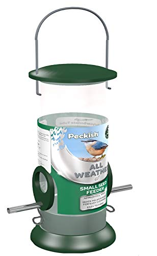 Peckish Large Metal All Weather Nyger Seed Bird Feeder