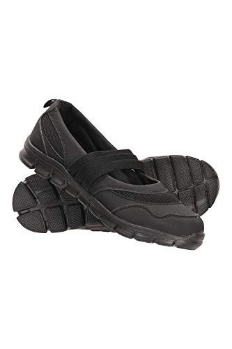 Mountain Warehouse Calzado Wander sin Cordones para Mujer - Parte Superior de Malla sintética - Plantilla Moldeada, Agarre Resistente - para Caminar y Viajes