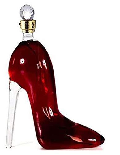750ml Decantatore di vino squisito, tacchi alti Forma a mano soffiata a mano 100% in vetro cristallo Aeratore di decantazione per vetro artigianale Brandy Tequila Bourbon Scotch rum Decanter