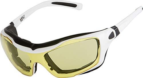 WYND Blocker White, Yellow Night Driving Large Motorcycle Riding Glasses
