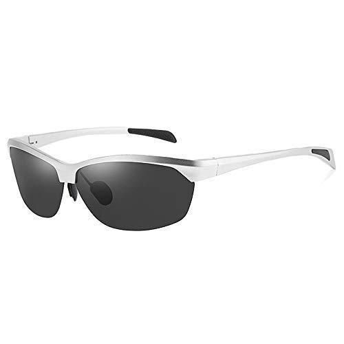 Yeeseu Gafas de sol gafas de sol polarizadas for los hombres de las mujeres de aluminio y magnesio conducción deportiva gafas de sol for los hombres gafas de moda (Color: Marrón, Tamaño: Libre) Ciclis