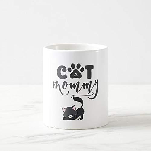 N\A Taza Cat Mommy con Lindo Gatito Gris