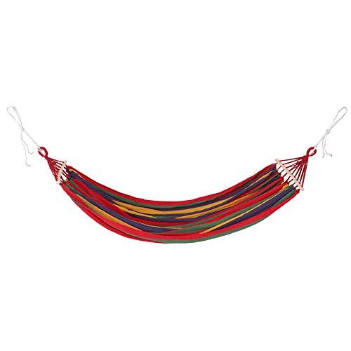 Angoily Hamaca de Lona de Camping Hamacas Portátiles de Colores de Rayas Ligeras de Nylon Paracaídas Hamacas para Mochilero Viajes Playa Patio Senderismo Rojo