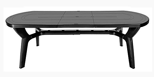 GBSHOP Tavolo da Giardino allungabile in plastica/Resina 180/230 cm