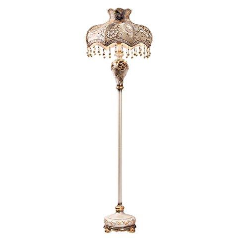 Lampe de plancher Champagne couleur Continental sculpté Vertical lampadaire, LED rétro chambre salon chevet lampe de mariage / E27 * 1 A+