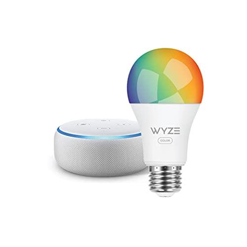 Echo Dot (3rd Gen) - Smart speaker with Alexa - Sandstone Wyze Color bulb