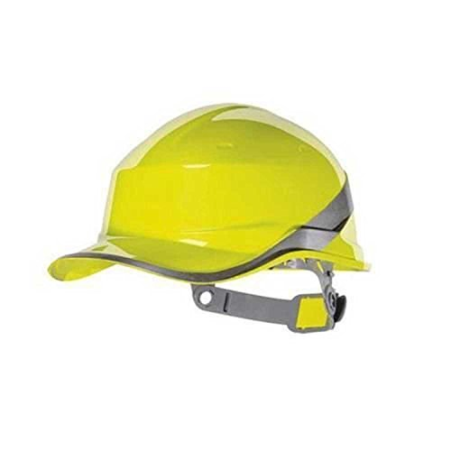 Die Fashion City® Diamond Delta Plus Hi-Vis Baseball Sicherheit Helm, Safty Helmet, Gelb
