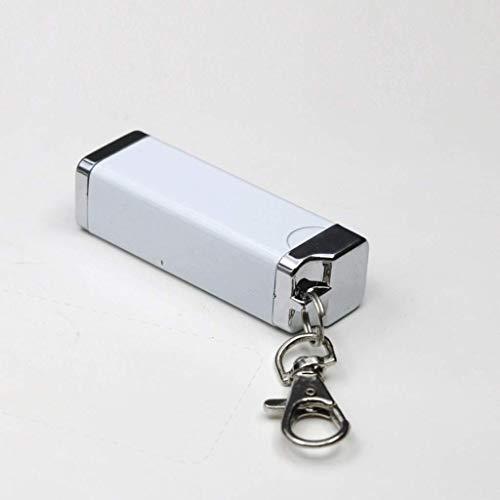 Cigare Cigarettes à Coupe-Vent sans fumée avec Porte-clés, imperméable en Aluminium Couvercle verrouiller Une Odeur, en métal Portable intérieur (Couleur: Blanc) BJY969 (Color : White)