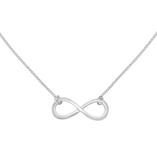 Caramel Jewellery London Infinity Friendship Collana 18ct Placcato in Argento Placcato. Ciondolo Infinity Charm Infinity Simbolo Infinity Collana Stunning Endless Love Collana per Le Donne 43cm