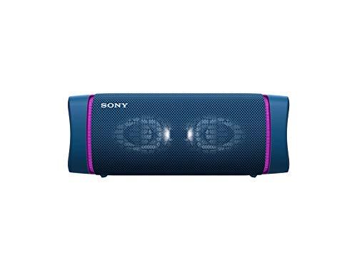 SONY SRS-XB33/LC Bocina Bluetooth Portátil con ExtraBass, Resistente al agua y al polvo, 24 Hrs Batería, Azul