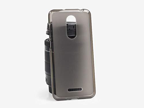 etuo Handyhülle für Coolpad Torino S - Hülle FLEXmat Case - Schwarz - Handyhülle Schutzhülle Etui Case Cover Tasche für Handy