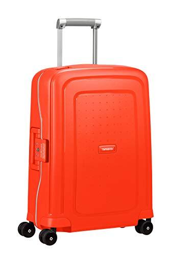 Samsonite S'Cure - Spinner S Equipaje de Mano, 55 cm, 34 L, Rojo (Fluo Red Capri)