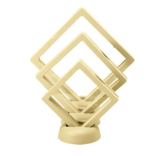 3pcs Monedas Expositor 3D Flotante Soporte Marco Moneda Medallón Joyería Mostrar Caso Organizador Caja para Anillo Collar Pulsera Pendientes