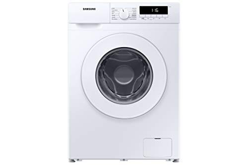 Samsung WW80T304MWW/ET Waschmaschine mit schneller Reinigung, Korbreinigung, Digital-Inverter-Technologie, LED-Display, fein programmiert, schmal, Tiefe 46,5 cm, Farbe Weiß