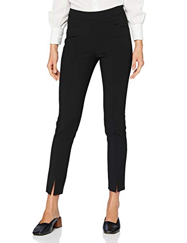 Sisley Trousers Pantalones, Nero 100, 40 para Mujer