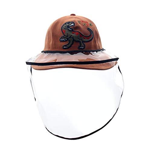 TONSEE Enfant Chapeau de Plage Été Bébé Protection du Cou Anti-UV pour Vacances Voyage Garçons Fille Printemps Bonnet Respirant Hat de Dessin de Baleine (Orange,1-3ans)