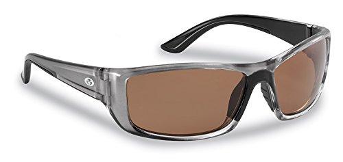Flying Fisherman Buchanan Polarized Sunglasses with AcuTint UV Blocker for Fishing and Outdoor Sports, Crystal Gunmetal Frames/Copper Lens