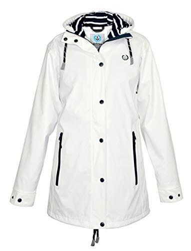 MADSea Damen Regenmantel Friesennerz Weiß, Farbe:weiß, Größe:42