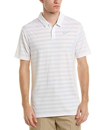 NIKE M Nk Dry Stripe Polo, Blanco (Blanco 100), Medium (Tamaño del Fabricante:M) para Hombre
