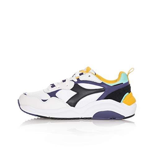 Diadora - Sneakers - Whizz Run - Bianco/Nero/Viola/Giallo (37 EU)