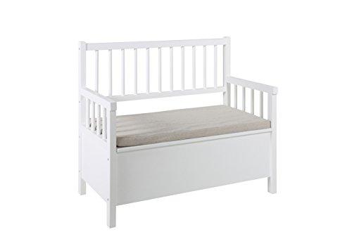 AC Design Furniture Bank Thomas, B: 90 x T:48 x H: 85 cm, MDF, Weiss - 2