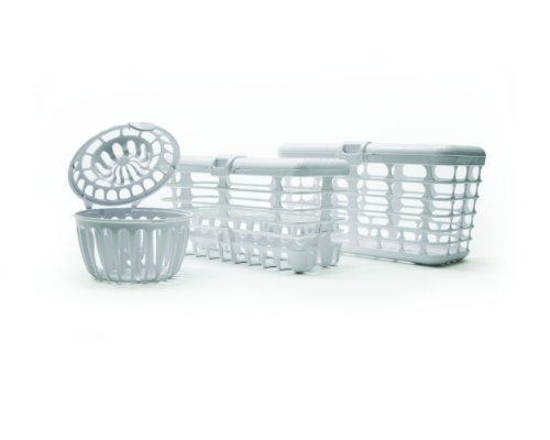 Prince Lionheart Made in USA High Capacity 3-in-1 Dishwasher and Spill Proof Vave Cleaner Basket for Toddlers & Infants Bottle Parts & Accessories | Fits all Dishwashers | 100% Recycled Plastic