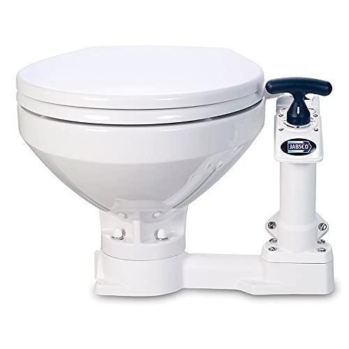 Jabsco 29090-5000 Twist n' Lock, Manual Marine Toilet, Compact Bowl