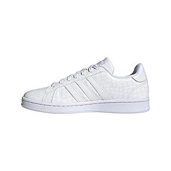 adidas Women s Grand Court Tennis Shoe Core White/Core White/Grey 8.5
