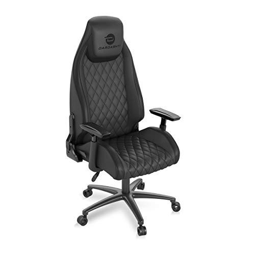 Atlantic Dardashti Gaming Chair - Commercial Grade, BIFMA X5.1 Tested, Next-Gen Ergonomic, Race Car Inspired Black with Black Accent, PN78050356